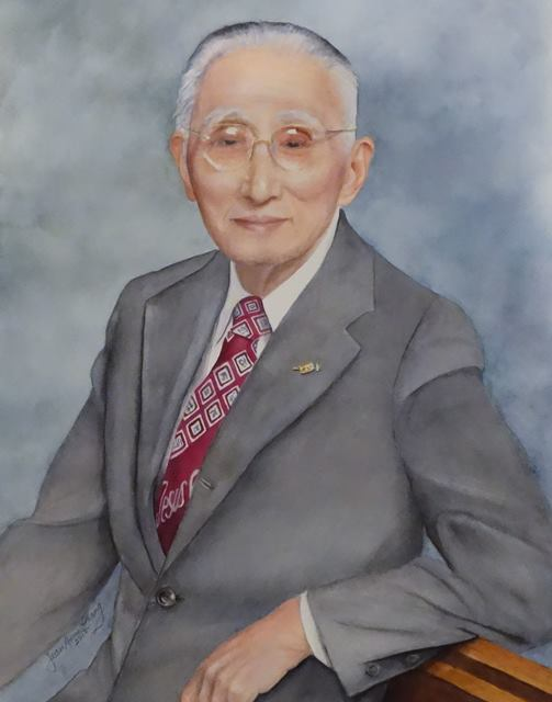 Lit-Sen Chang, lovingly painted in watercolor by his daughter-in-law, Jean Anne Chang www.jeanachang.com